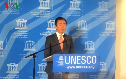 ທ່ານເອກອັກຄະລັດຖະທູດຟ້າມແຊງເຈົາອອກສະໝັກເລືອກຕັ້ງເປັນຜູ້ອຳນວຍການ UNESCO - ảnh 1