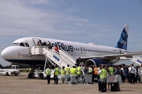 古巴接待50年来首架美国商业航班 - ảnh 1