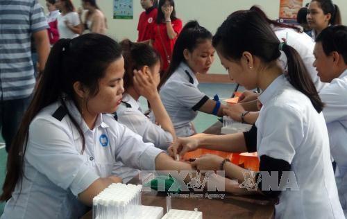 广南省举行2017年春天献血节 - ảnh 1
