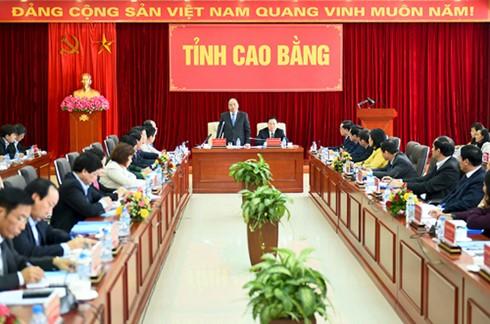 阮春福:高平省要成为攻坚克难的典范 - ảnh 1