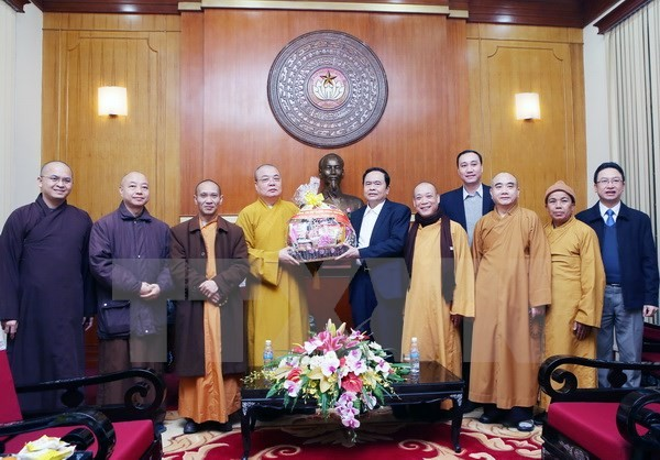 越南佛教教会一向与越南祖国阵线携手良好开展各项运动及竞赛活动 - ảnh 1