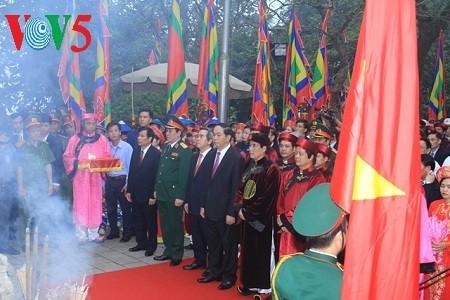 2017丁酉年雄王祭祖活动在越南全国各地举行 - ảnh 1
