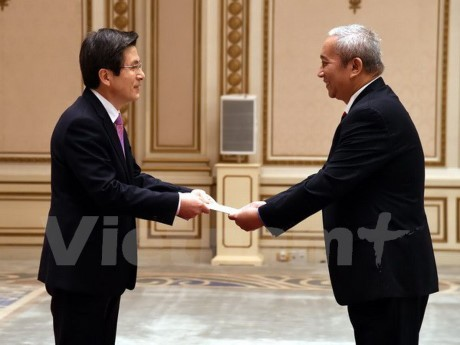 越南和韩国力争到2020年将两国贸易额提升至1000亿美元 - ảnh 1
