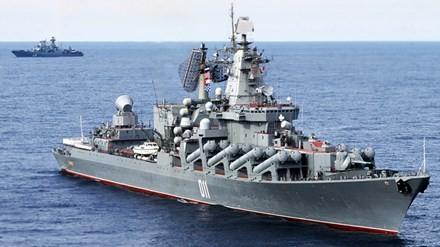 俄罗斯海军军舰抵达庆和省金兰国际港 - ảnh 1
