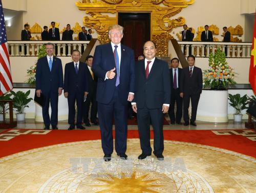 越南政府总理阮春福会见美国总统特朗普 - ảnh 1