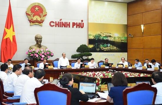 越南政府二月工作例会讨论二月经济社会情况 - ảnh 1