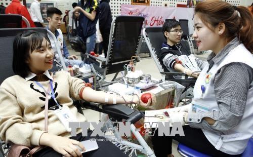 2018年春天献血节共采集血液10200单位 - ảnh 1