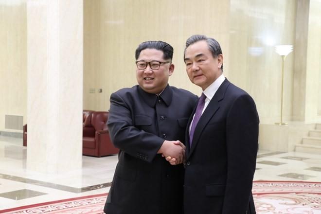 朝中社:金正恩与王毅讨论多个问题 - ảnh 1