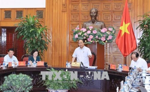 阮春福与六省领导干部就适应自然灾害农村发展项目举行工作会议 - ảnh 1
