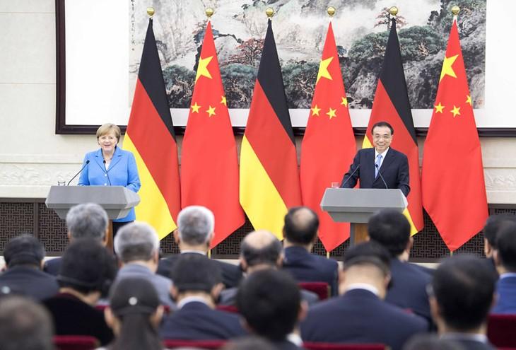中德总理会谈讨论双边贸易关系 - ảnh 1
