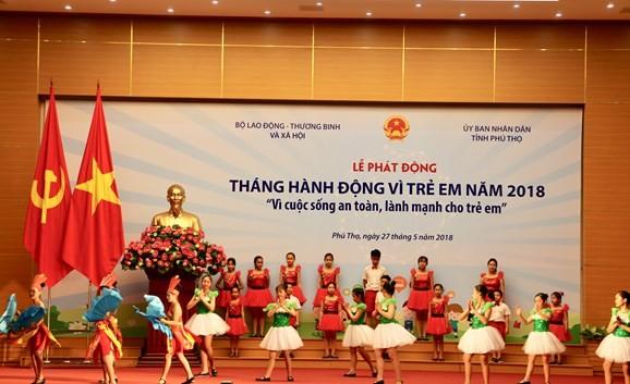 越南2018年儿童行动月启动 - ảnh 1