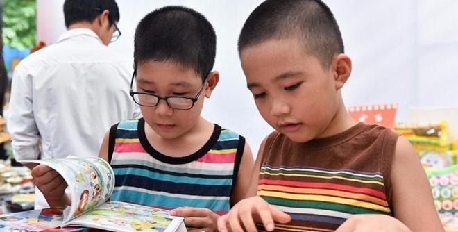 河内书街喜迎儿童节 - ảnh 2
