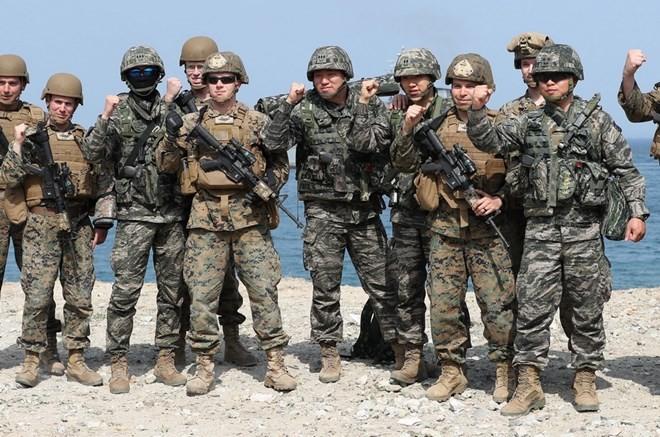 韩美联合军演将通过军事磋商决定 - ảnh 1