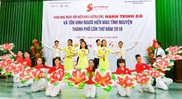 芹苴市举行72个无偿献血先进集体和个人表彰会 - ảnh 1
