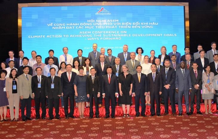 亚欧会议一致同意加强配合行动应对气候变化 - ảnh 1