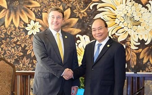 阮春福会见出席GEF 6大会的多个国际组织领导人 - ảnh 1