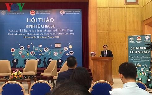 越南要制定适合的政策 鼓励共享型经济发展 - ảnh 1