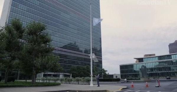 联合国日内瓦总部降半旗致哀科菲·安南 - ảnh 1