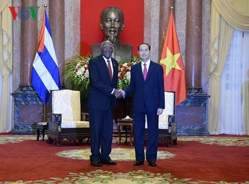 陈大光和阮氏金银会见古巴国务委员会第一副主席兼部长会议第一副主席巴尔德斯 - ảnh 1