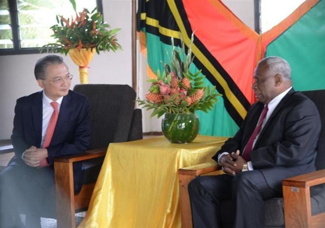 越南与瓦努阿图一致同意推动农业和水产领域合作 - ảnh 1