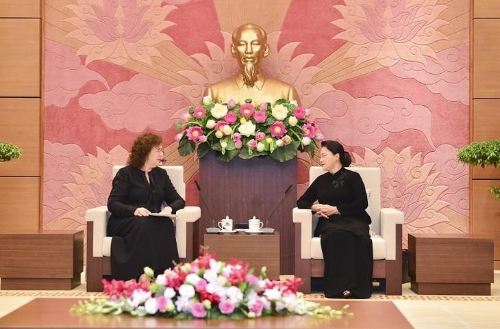 越南国会主席阮氏金银会见俄罗斯国家杜马副主席艾菲法诺娃 - ảnh 1