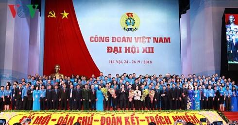 越南工会第12次全国代表大会闭幕 - ảnh 1