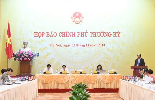 越南政府举行十月份例行记者会 - ảnh 1