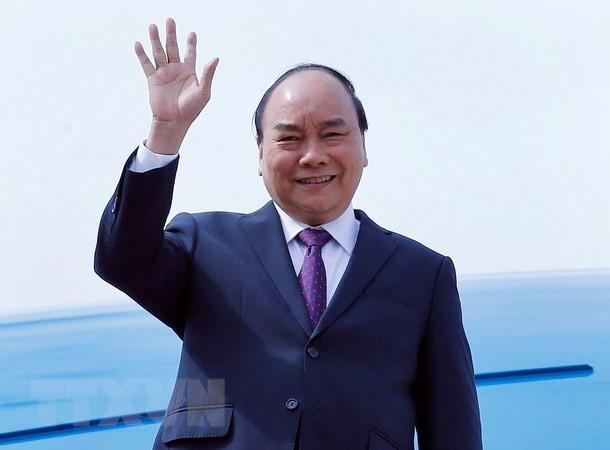 越南政府总理阮春福抵达上海 开始出席CIIE行程 - ảnh 1
