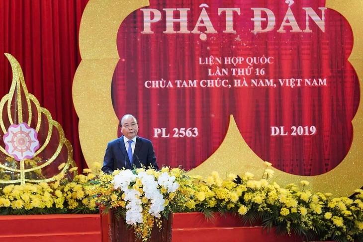 阮春福:2019年联合国卫塞节强调了越南佛教教会在融入国际过程中的地位和作用 - ảnh 1