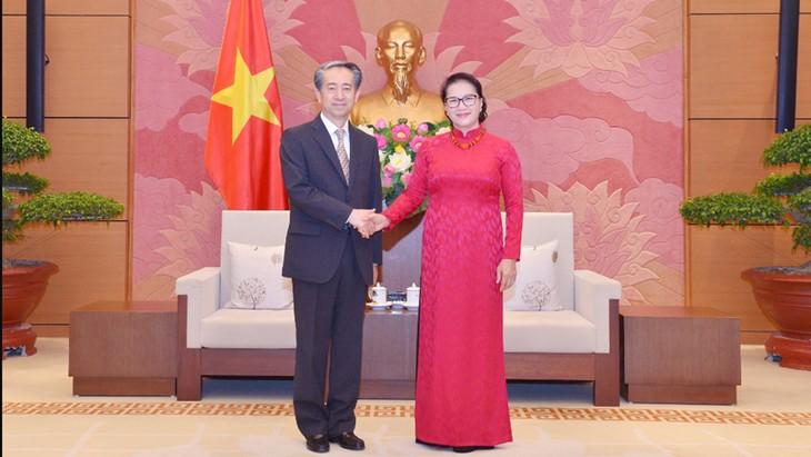 越南国会主席阮氏金银会见中国驻越大使熊波 - ảnh 1