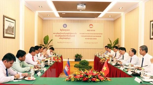 越南与柬埔寨加强祖国阵线工作合作 - ảnh 1