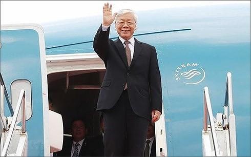 អគ្គលេខាបក្សកុម្មុយនិស្តវៀតណាមលោក Nguyen Phu Trong អញ្ជើញទៅបំពេញទស្សនកិច្ចថ្នាក់រដ្ឋនៅគុយបា - ảnh 1