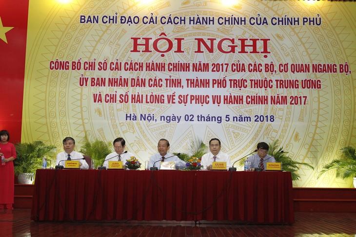 ខេត្ត Quang Ninh នាំមុខបញ្ជីរៀបចំណាត់ថ្នាក់សន្ទស្សន៍កែទម្រង់រដ្ឋបាលឆ្នាំ២០១៧ - ảnh 1