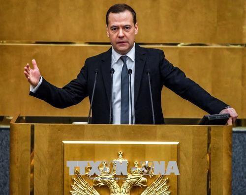 ប្រធានាធិបតីរុស្ស៊ី លោក Putin តែងតាំងលោក D.Medvedev កាន់មុខដំណែងជានាយករដ្ឋមន្ត្រីអាណត្តិថ្មី - ảnh 1