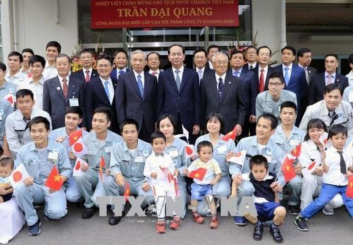 សារព័ត៌មានជប៉ុនបានចុះផ្សាយព័ត៌មានដ៏មហោឡារឹកអំពីដំណើរទស្សនកិច្ចរបស់ប្រធានរដ្ឋវៀតណាមលោក Tran Dai Quang - ảnh 2