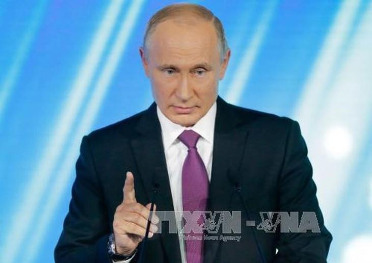 លោក V.Putin សង្កត់ធ្ងន់ទៅលើភាពចាំចាច់កសាងទំនាក់ទំនងកិច្ចសហប្រតិបត្តិការអន្តរជាតិ - ảnh 1