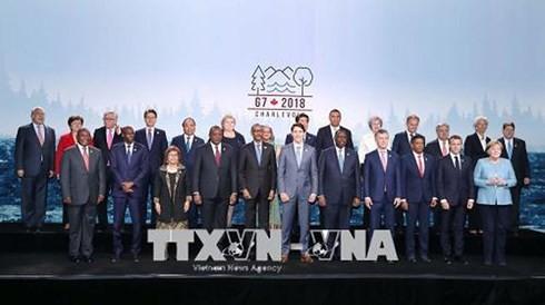 នាយករដ្ឋមន្ត្រីវៀតណាម បានបញ្ចប់ដំណើរចចូលរួមកិច្ចប្រជុំកំពូល G7 បើកទូលាយនៅកាណាដា - ảnh 1