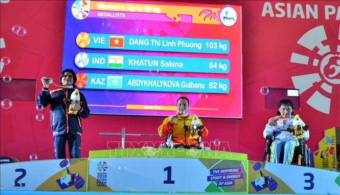 ភាពជោគជ័យក្នុងថ្ងៃប្រកួតរបស់ក្រុមកីឡាវៀតណាមនៅ Asian Para Games 2018 - ảnh 1