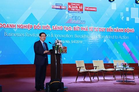 ឧបនាយករដ្ឋមន្ត្រីវៀតណាម លោក Vuong Dinh Hue ចូលរួមវេទិកា  CEO ឆ្នាំ២០១៩ - ảnh 1