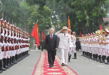 Tổng Bí thư Nguyễn Phú Trọng dự Lễ khai giảng của Học viện An ninh nhân dân - ảnh 1