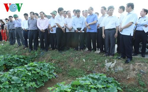 Chủ tịch Ủy ban TƯ MTTQ Việt Nam Nguyễn Thiện Nhân khảo sát mô hình Hợp tác xã tại Thanh Hóa - ảnh 1