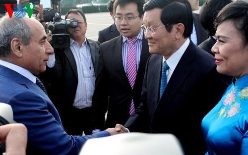 Chủ tịch nước Trương Tấn Sang bắt đầu thăm chính thức Azerbaijan  - ảnh 1
