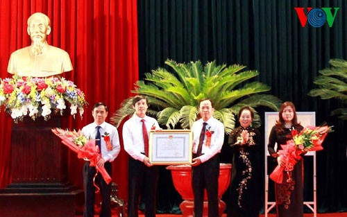 Phó Chủ tịch nước Nguyễn Thị Doan dự Đại hội thi đua yêu nước tỉnh Thanh Hóa lần thứ 9          - ảnh 1