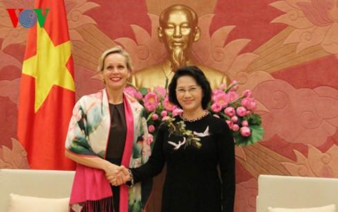 Chủ tịch Quốc hội Nguyễn Thị Kim Ngân tiếp Đại sứ Thụy Điển và Đại sứ Đan Mạch - ảnh 1