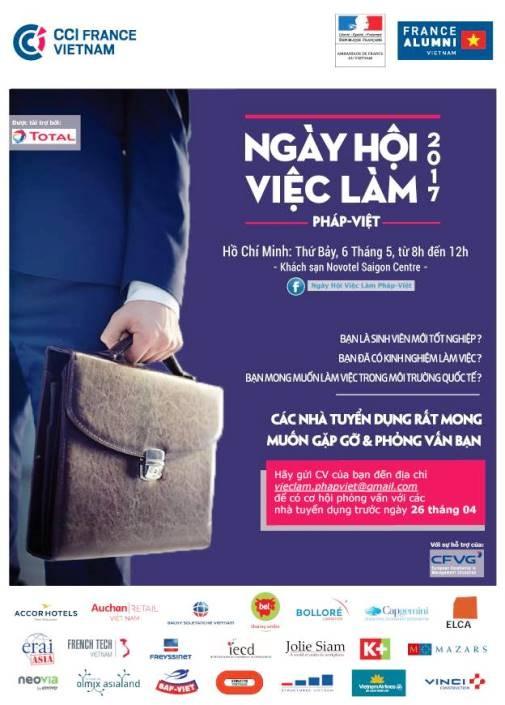 Ngày hội việc làm Pháp – Việt 2017 sẽ diễn ra vào ngày 06/05 - ảnh 1