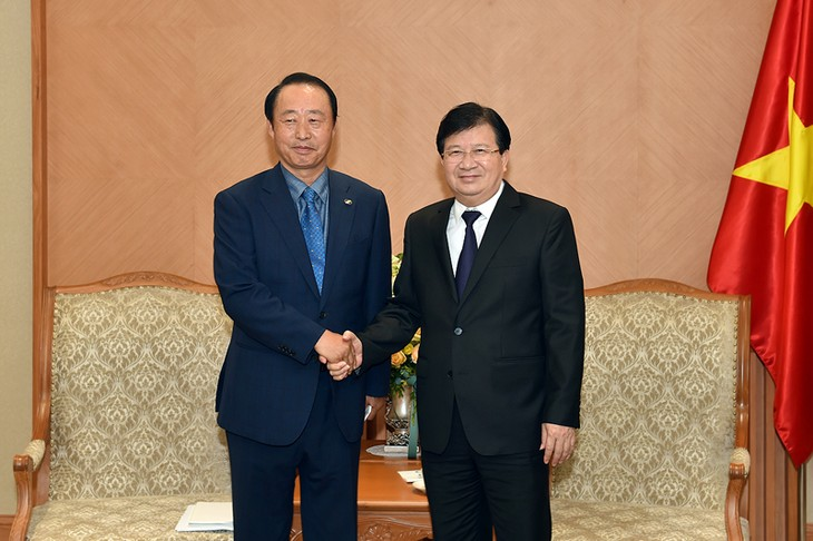 Phó Thủ tướng Trịnh Đình Dũng tiếp Chủ tịch, Tổng Giám đốc Công ty Điện lực Nam Hàn Quốc  - ảnh 1