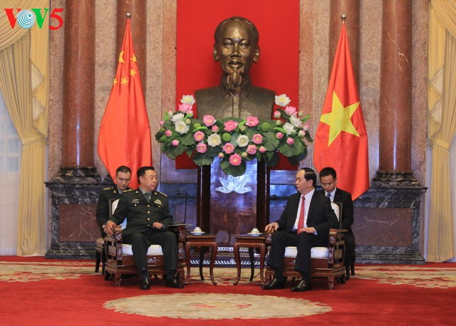 Chủ tịch nước Trần Đại Quang tiếp Phó Chủ tịch Quân ủy Trung ương Trung Quốc Phạm Trường Long - ảnh 1