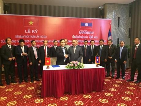 Hội nghị lần thứ 22 Ban công tác đặc biệt Chính phủ Việt Nam-Lào - ảnh 1