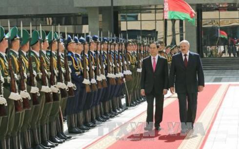 Tuyên bố chung Việt Nam – Belarus nhân chuyến thăm của Chủ tịch nước Trần Đại Quang - ảnh 1