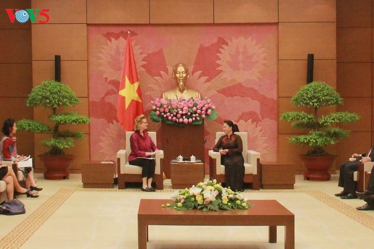 Chủ tịch Quốc hội Nguyễn Thị Kim Ngân tiếp Giám đốc Quốc gia mới UNDP tại Việt Nam - ảnh 1